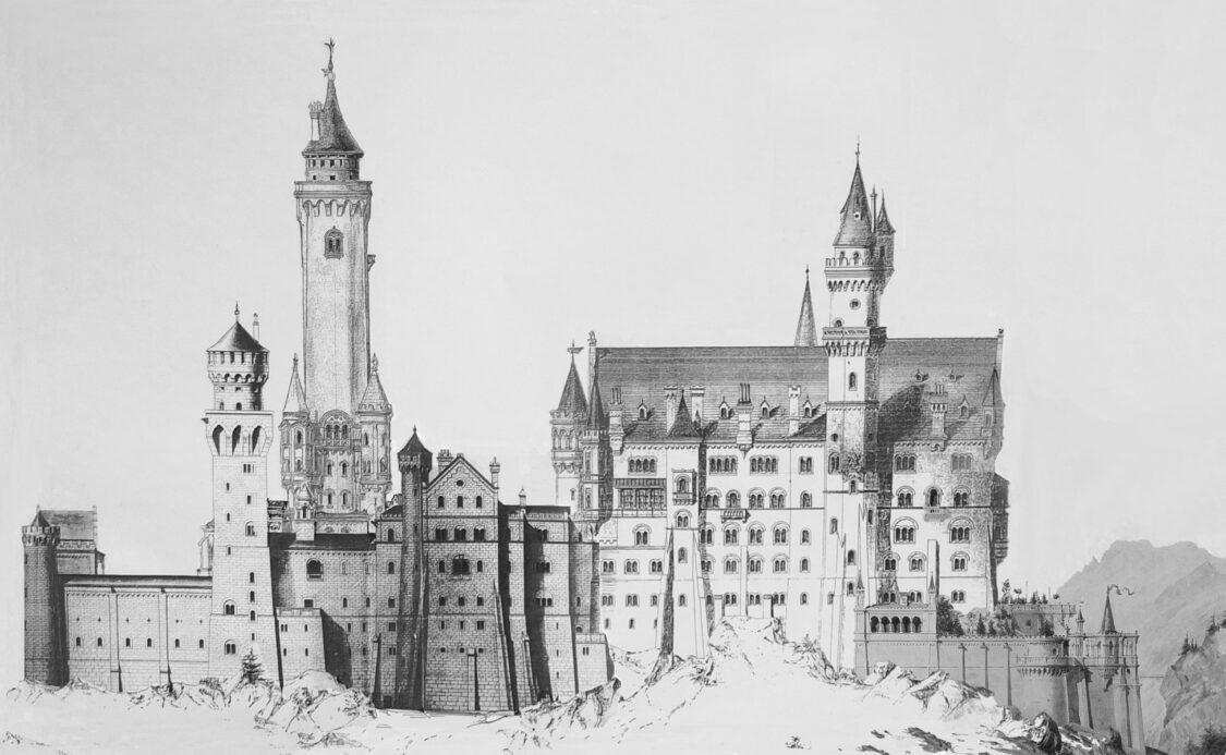 Schloss Neuschwanstein von Nordwest