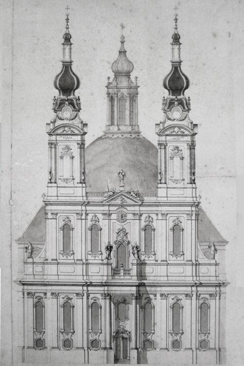 Kloster Langheim. Fassadenplan des eben beschriebenen Projektes.