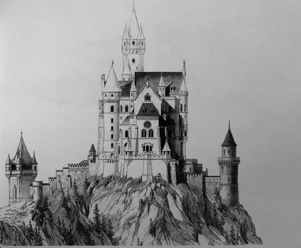 Burg Falkenstein Aufriss Ost