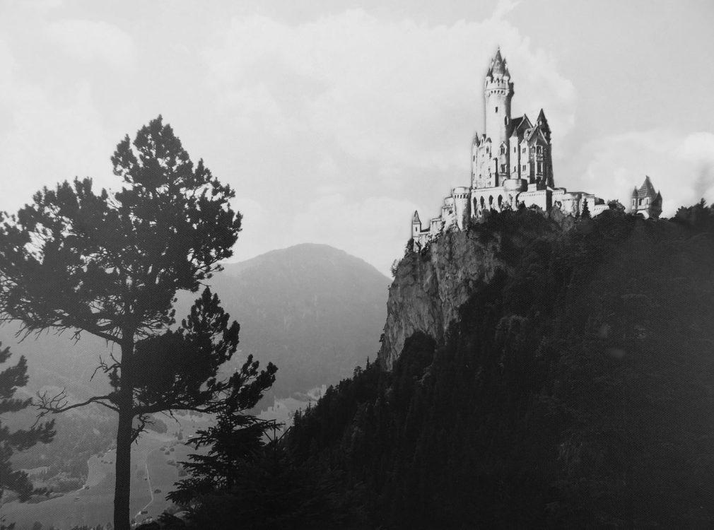 Burg Falkenstein Perspektive von Norden auf dem Falkenstein