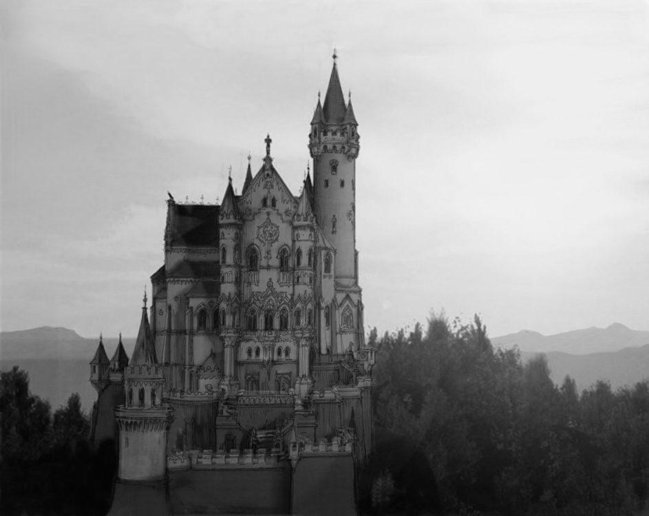 Burg Falkenstein Perspektive von Süden
