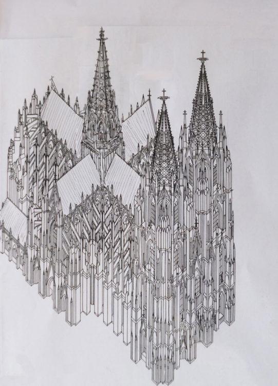 Köln Dom St. Peter mit Vierungsturm