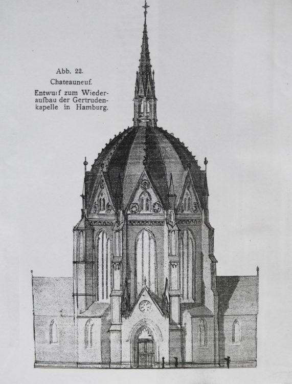 Hamburg Zentralbau St. Gertrud als neugotische Rekonstruktion