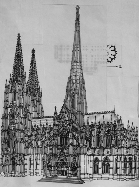 Köln Dom St. Peter mit hohem Vierungsturm