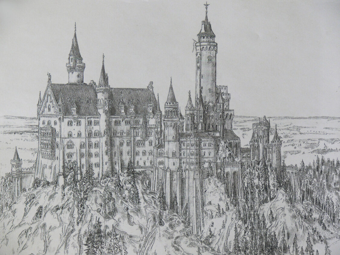Schloss Neuschwanstien von Süden