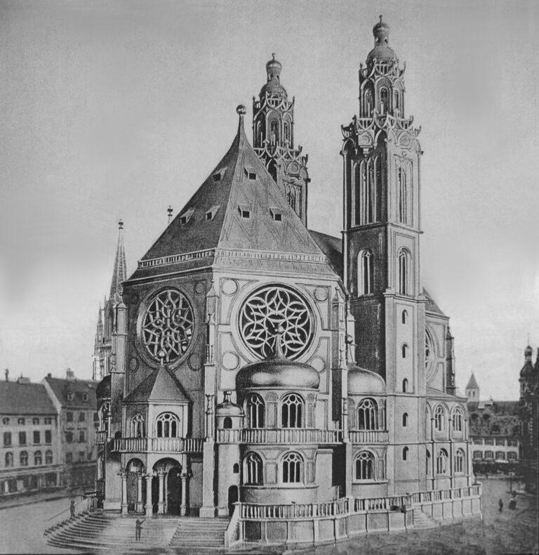 Blick auf die Wallfahrtskirche der Schönen Maria am Neupfarrplatz. > Matthias Walther > Architekturcollage