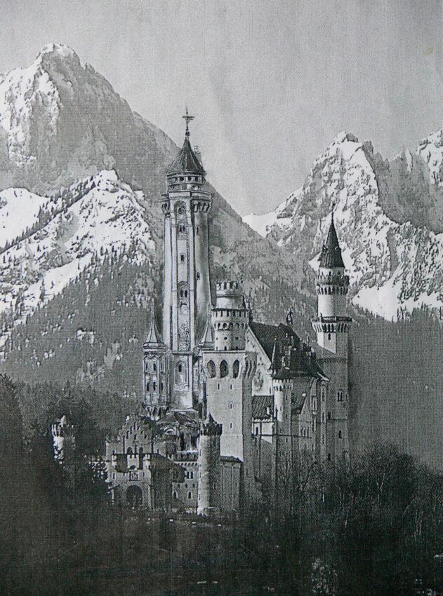 Schloss Neuschwanstein von Nordost > Matthias Walther > Architekturcollage