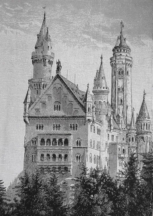 Schloss Neuschwanstein von Süden > Matthias Walther > Architekturcollage