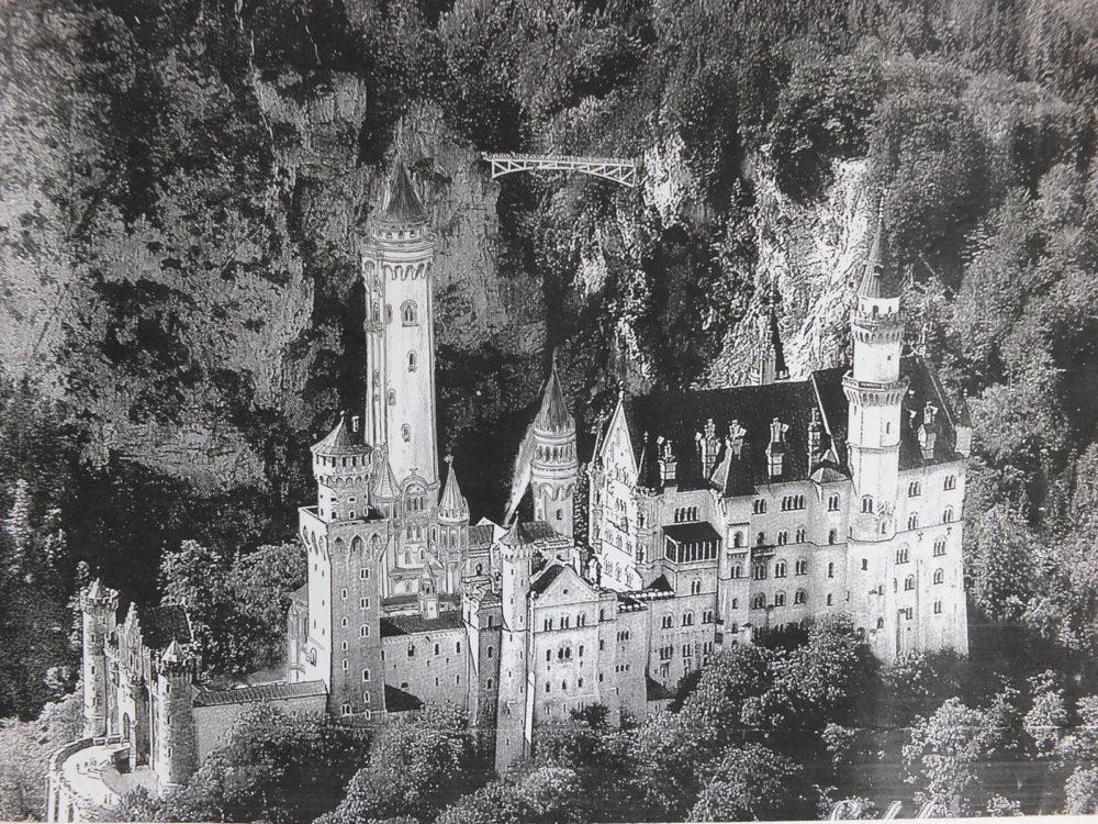 Schloss Neuschwanstein von Norden > Matthias Walther > Architekturcollage