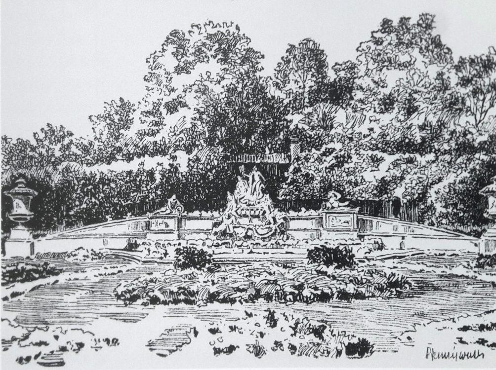 Brunnen Japanisches Palais