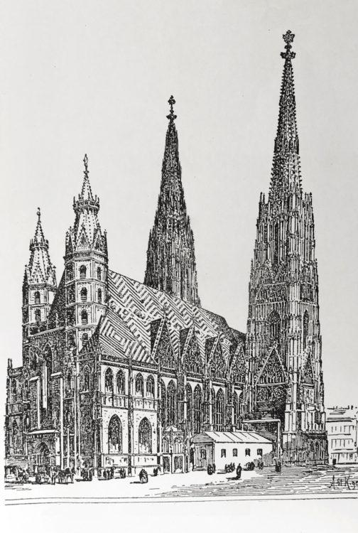 Wiener Stephansdom mit zwei Türmen?