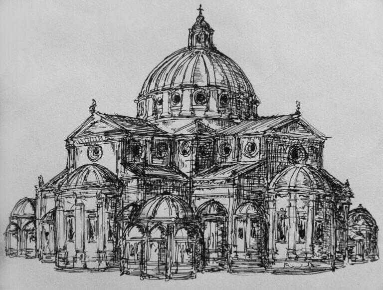 Pavia, Dom. Ursprüngliches Projekt von Donato Bramante