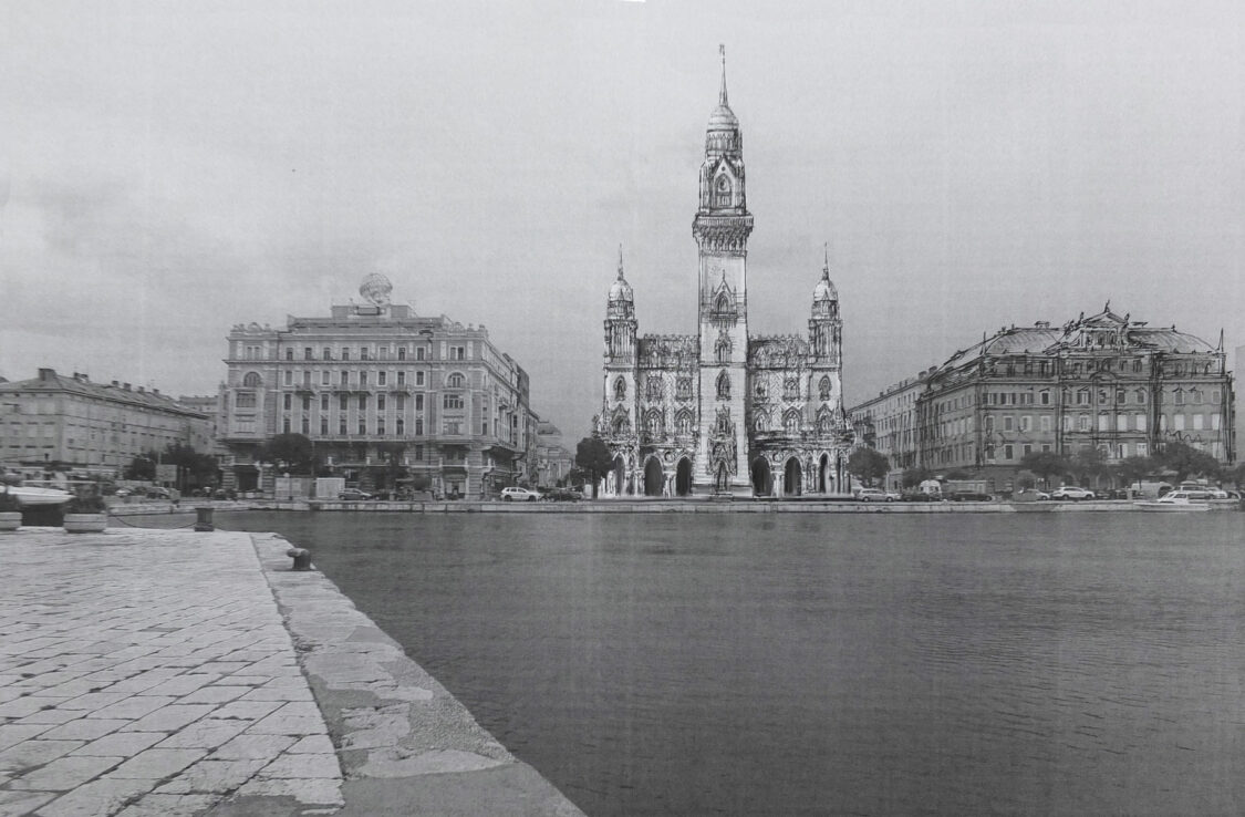 Fiume/Rijeka: Wirkung des Hafenbaus an der Promenade.