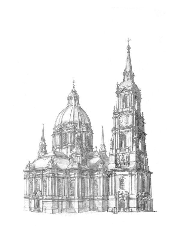 Neustadt Dreikönigskirche Perspektive