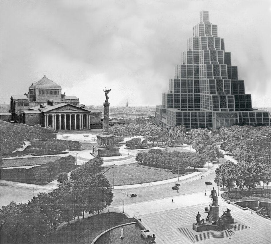 Berlin: Platz der Republik mit Neuer Oper gegenüber dem Reichstag. Rechts das Neue Reichshaus