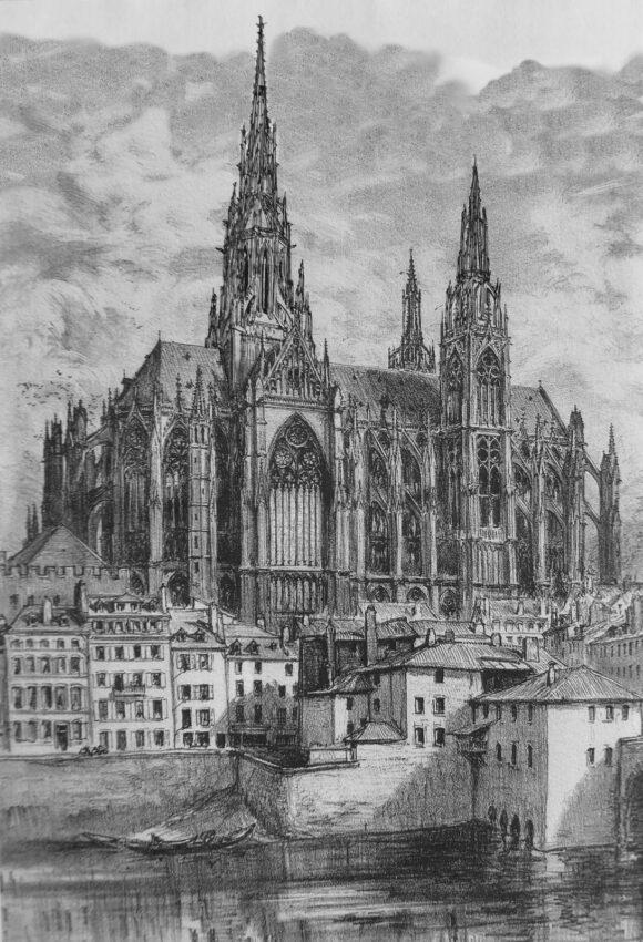 Metz: Vierungsturm las Dachreiter