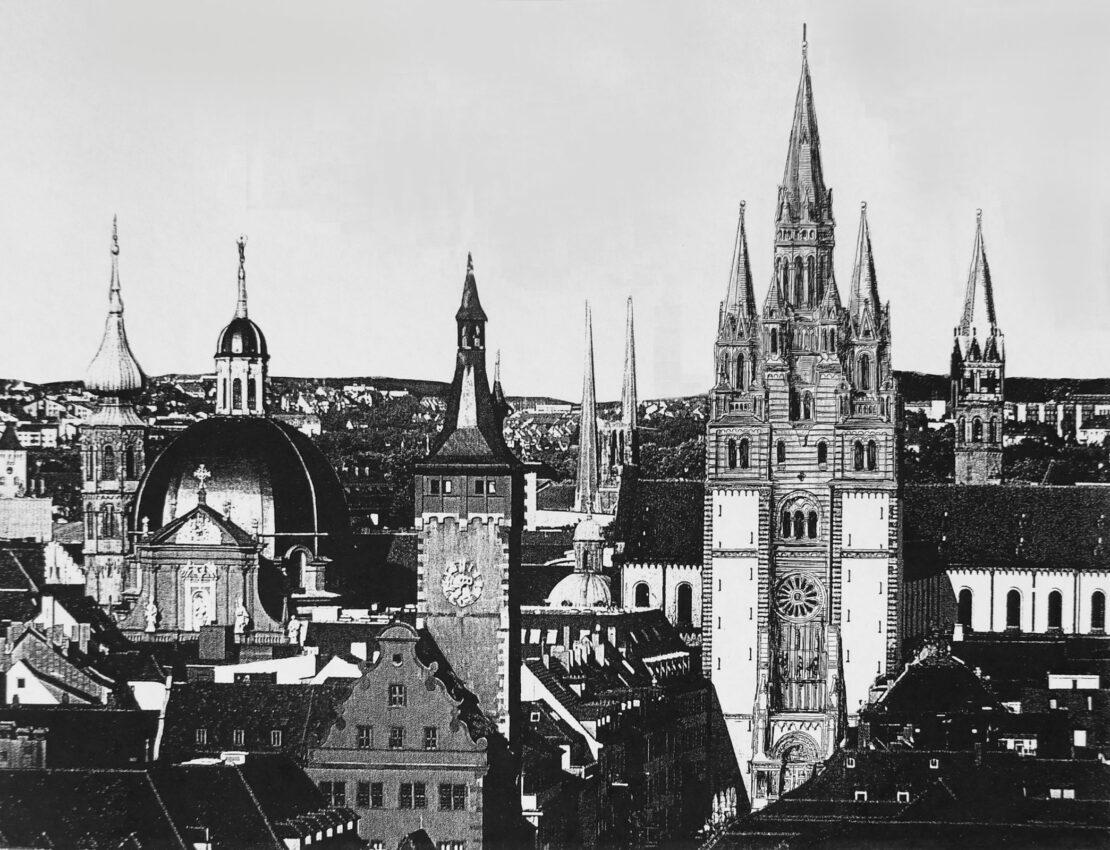 Würzburg Drei Türme für Würzburg