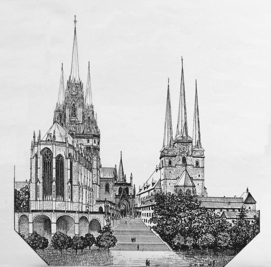 Erfurt: Domberg mit Dom und St. Severin
