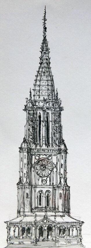 Nürnberg Stadtturm Dürer Plan