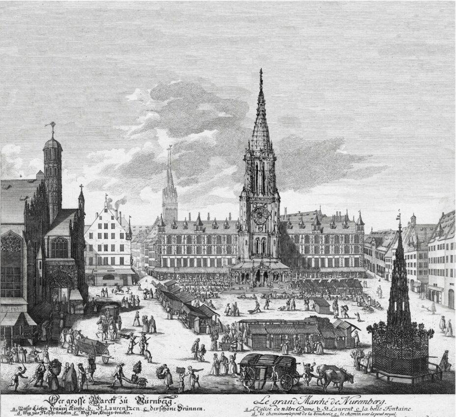 Nürnberg Stadtturm Dürer Standort Kaufhalle