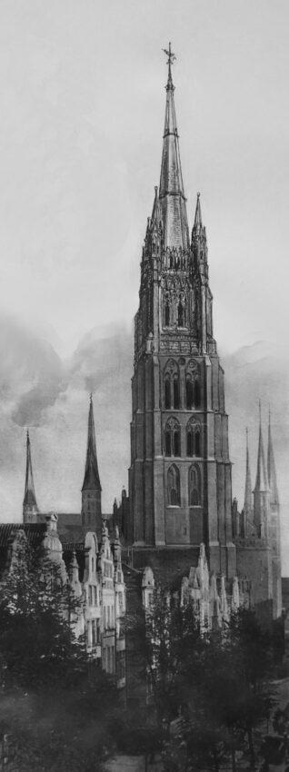 Danzig: Perspektive des Turms von der Langgasse
