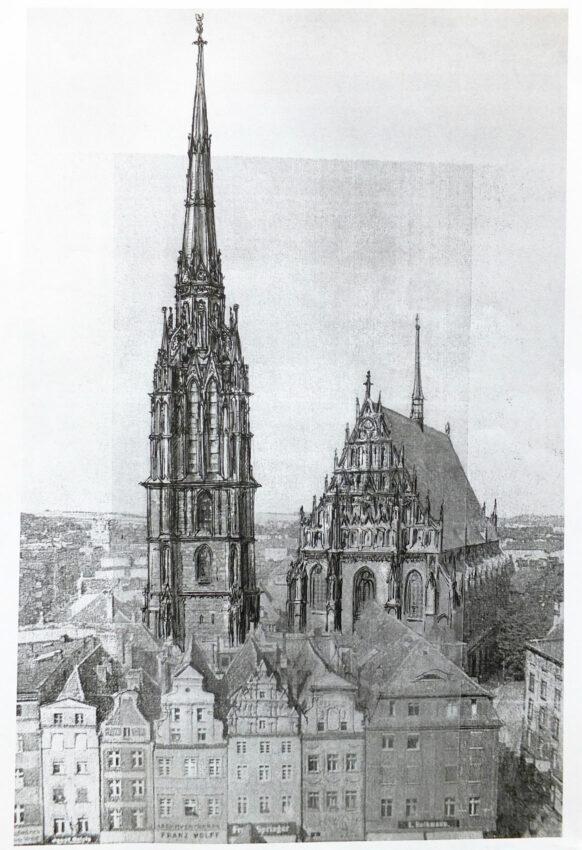Neisse: Fassade und Turm